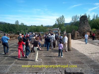 Praça da cidade romana de Ammaia