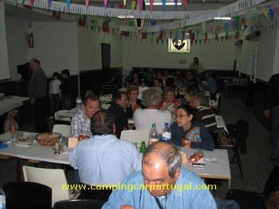 À noite, já na vila de Fronteira, realizou-se o jantar de grupo