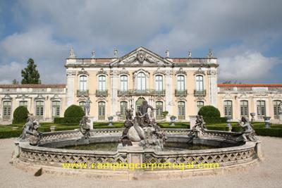 O Encontro começou com a visita ao Palácio Nacional de Queluz...