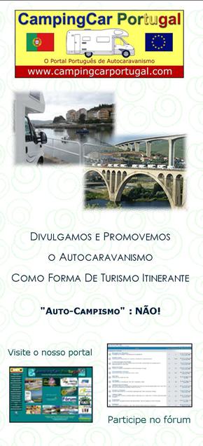 Brochura CampingCar Portugal – frente
